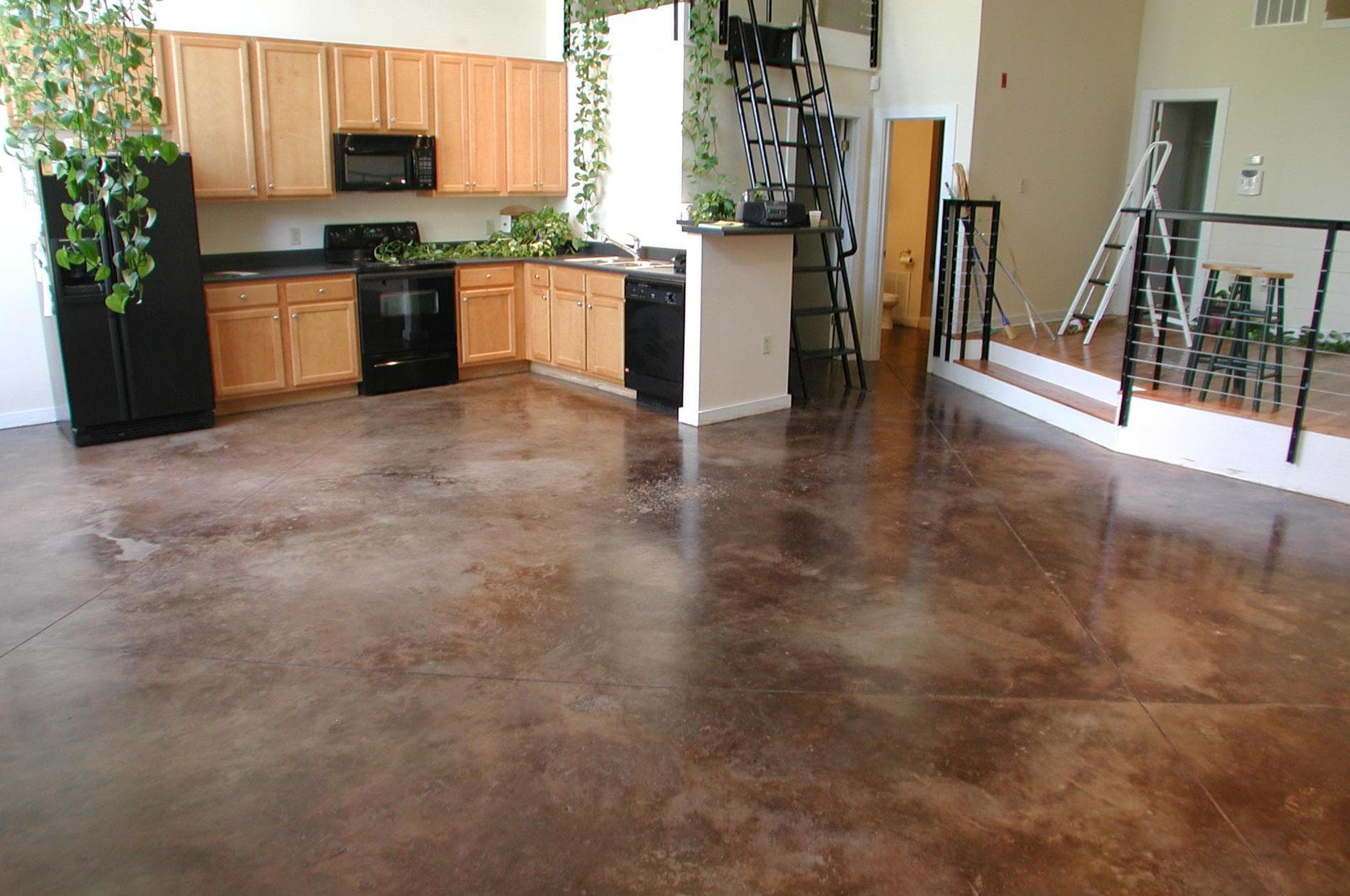 polish flooring old and concrete watch renovate floor material remove